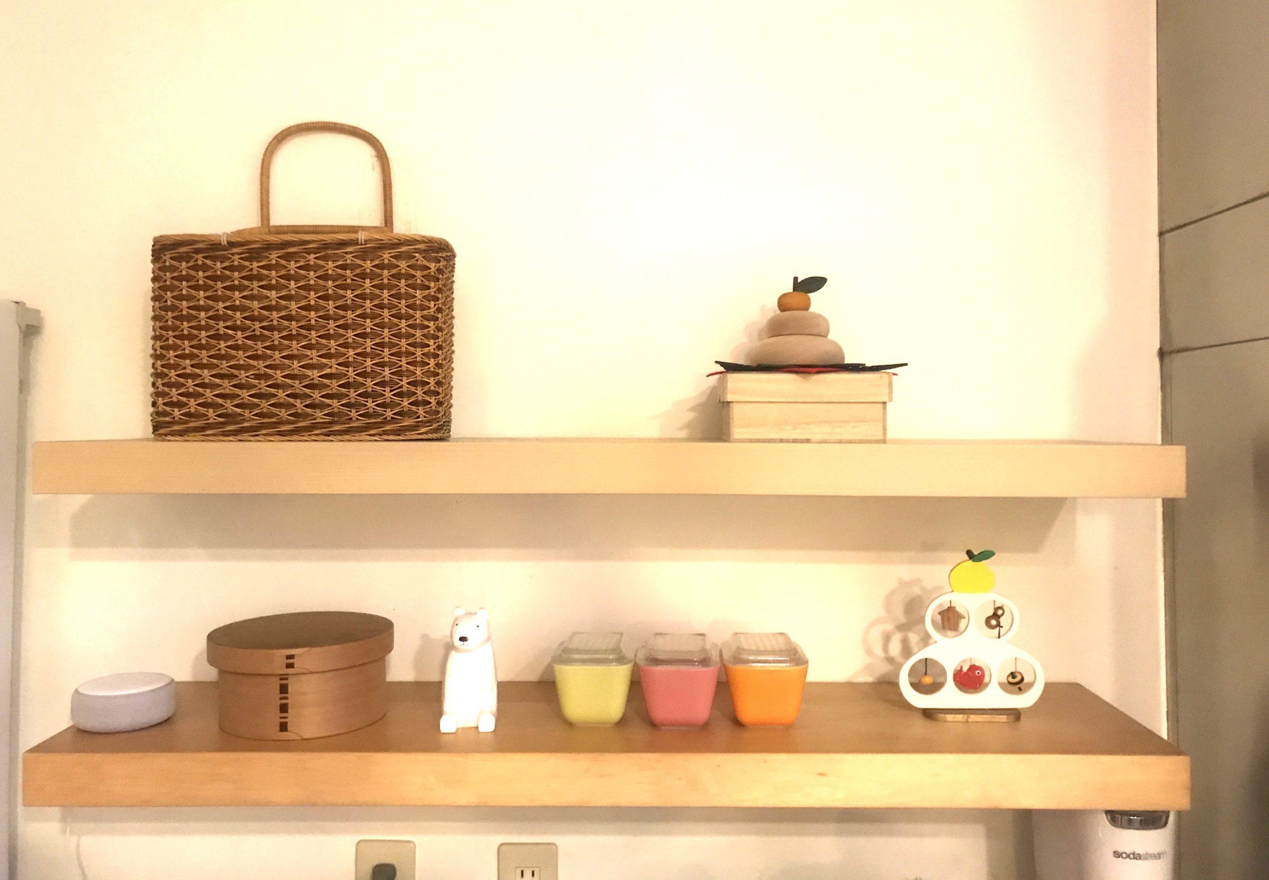お正月のキッチン飾り棚
