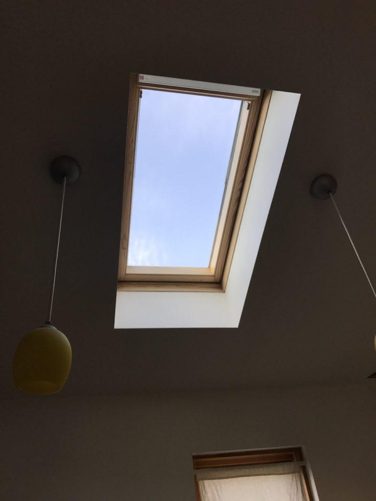 夕方の天窓