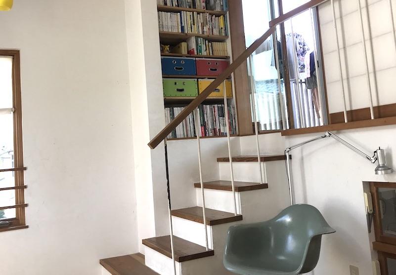 和室へとつながる階段の読書コーナーサムネイル用