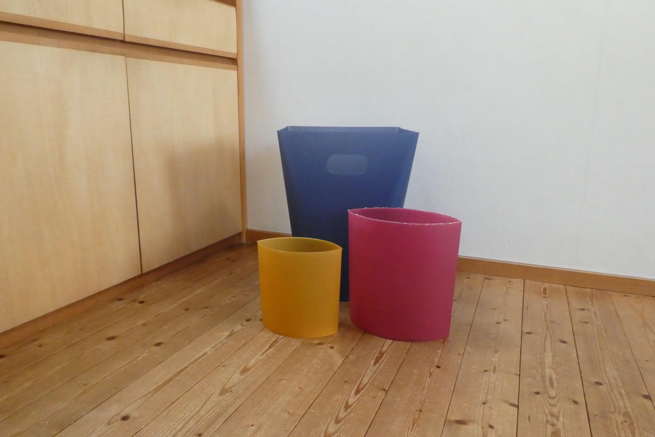 3色のゴミ箱
