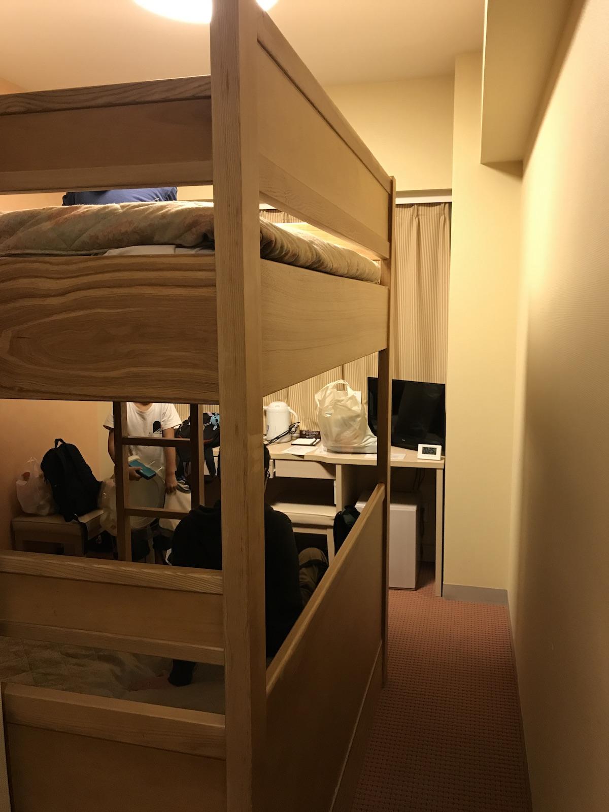 2段ベッドのホテル