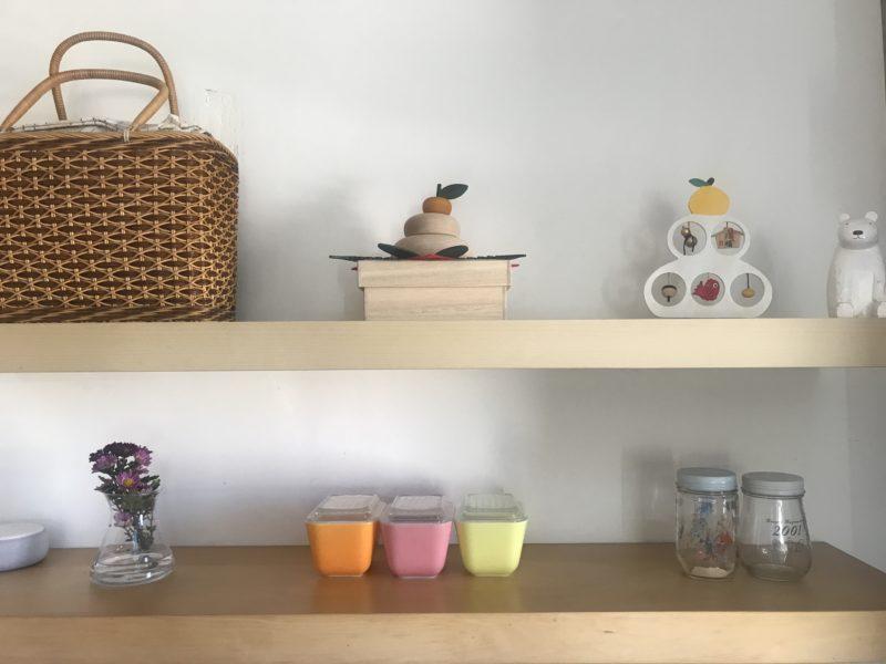 お正月のキッチン棚