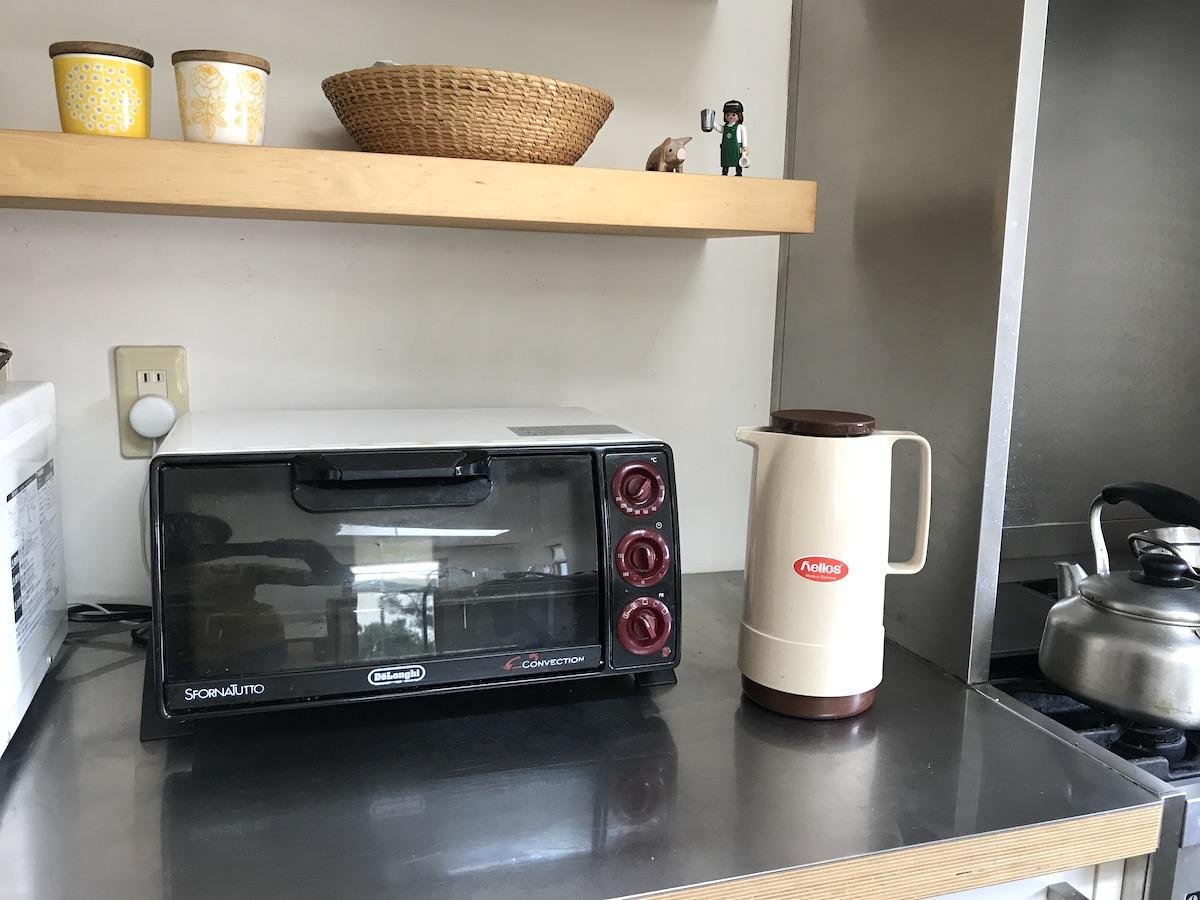ヘリオスのポットとキッチン