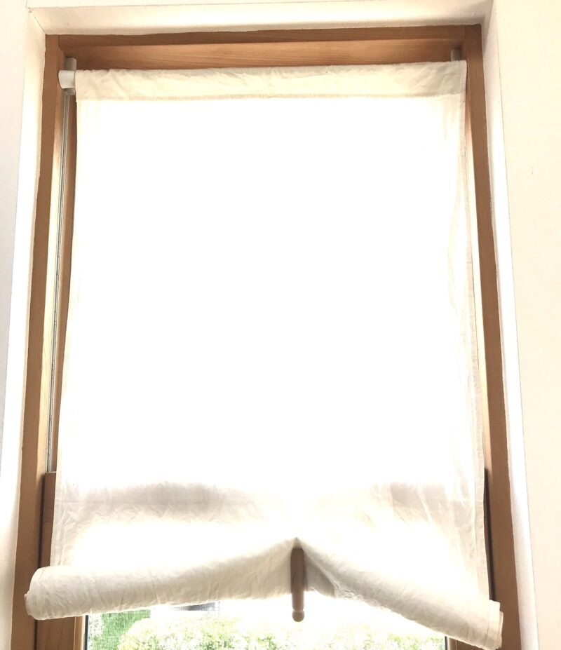 縦長窓 手作り布ブラインド